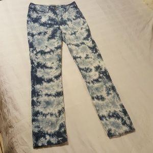 NYDJ Tye-Dye Skinny Jeans W/ Lift~Tuck Technology